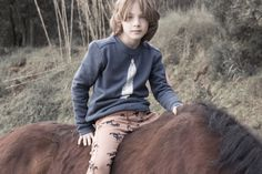 """Boy legginings. Sneak Peak by Bobo Choses - Sweater """"Feather"""""""