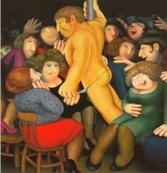 Les Chippendales (Artist Beryl Cook) - Humour Actualités Citations et Images Ladies Night, Girls Night Out, Beryl Cook, Jackie Collins, Tate Britain, English Artists, Hens Night, Funny Art, Limited Edition Prints