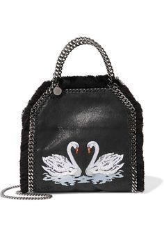b584cf325308d Stella McCartney - The Falabella embroidered faux brushed-leather shoulder  bag