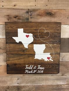 Personalized Wedding map sign, 2 State Guest book Alternative, Wedding guest book, Map art,  handmade event Guest book, by Rustic restyle on Etsy