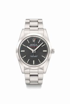 Rolex. A fine and rare stainless steel automatic anti-magnetic wristwatch with sweep centre seconds, bracelet and black dial, manufactured in 1980 #ChristiesWatches