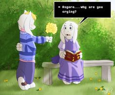 Undertale - Flowers for you by TC-96.deviantart.com on @DeviantArt