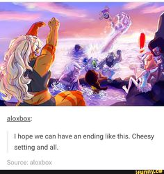 YES I WANT THIS CHEESY ENDING. I DONT CARE IS IT SUPER CHEESY, BUT I WANT IT TO END LIKE THIS.