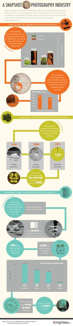 A snapshot of the photography industry #infographic