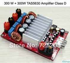 300W+300W TAS5630 Stereo Class D Digital Amplifier Board OPA1632 Preamp PCBA DIY Free Shipping $60.99