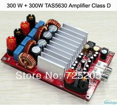 300W+300W TAS5630 Stereo Class D Digital Amplifier Board OPA1632 Preamp PCBA DIY Free Shipping $60.99