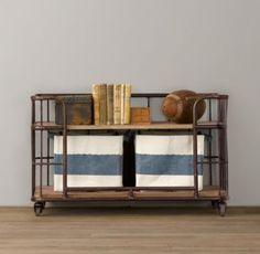 Industrial Baker's Storage Rack - Low | Bookcases | Restoration Hardware Baby & Child $259 on sale