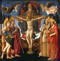La Trinidad.  La pasión de Cristo siglo XV, autor Francesco Pesellino