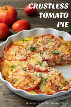 Vegetable Recipes, Vegetarian Recipes, Healthy Recipes, Garden Tomato Recipes, Fresh Tomato Recipes, Veggie Food, Baked Tomato Recipes, Vegetable Soups, Quiche Recipes