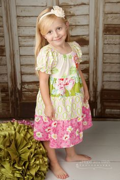 PDF Sewing Pattern - Tiered Peasant Twirl Dress Pattern - Long Sleeves and Short. $7.95, via Etsy.