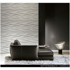 Dune Wall Tiles -     Set of (6) InterlockingRock® Sculptural Tiles - Tiles are pure white and the finished surface may be painted any color, although paint is not required.