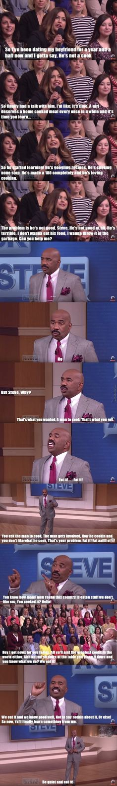 Steve Harvey tells women what's up