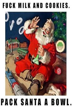 Top 15 Stoner Santa Claus Pics & Memes For A Marijuana Christmas - Weed Memes Cannabis, Marijuana Art, Weed Memes, Weed Humor, 420 Memes, Medical Marijuana, Weed Funny, Stoner Humor, Fantasy