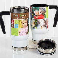 Give that special man in your life a gift they can cherish forever with the Photo Fun Personalized Collage Commuter Travel Mug. Find the best personalized mens' gifts at PersonalizationMall.com