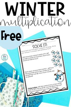 These free, winter math activities are perfect for your upper elementary students this season! This free resource includes three different multiplication tasks in both print and digital formats. Click the pin to check out what's included and grab a copy for your students for FREE! Multiplication Activities, Writing Activities, Math Lesson Plans, Math Lessons, Fifth Grade Math, Fourth Grade, Elementary Math, Upper Elementary, Teacher Freebies