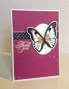 Beth's Little Card Blog: Thank you Butterfly