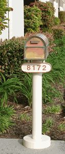 The Basic Mailbox Post & Westchester Brass Mailbox with Locking Insert Option by Streetscape Mailboxes is on sale now. New Mailbox, Victorian Mailboxes, Metal House Numbers, Mounted Mailbox, Address Plaque, Metal Homes, Brass, Outdoor Decor