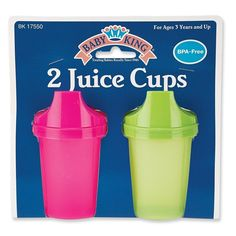 Baby King 2-Pack Juice Cups Bpa Free