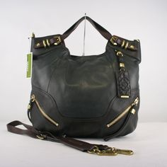 Orlany Green Italian Leather Tote $249