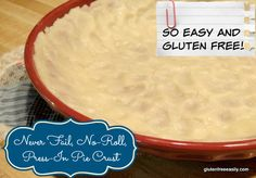 Even better than a perfect roll-out pie crust for me is a Never-Fail No-Roll Press-In Pie Crust! Gluten free & dairy free.