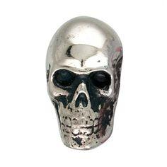 Metal Skull Silver Chrome Drawer Dresser Cupboard Pull Knob - - Amazon.com