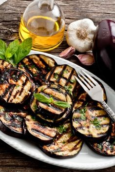 Garlic Mint Eggplant recipe - would be great with brown rice!