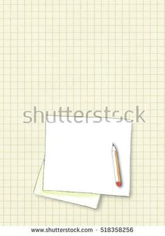 #Stock #image: #hand #drawing #watercolor #illustration of #blank #square #frame with #pencil on #old #squared #paper #background #shutterstock