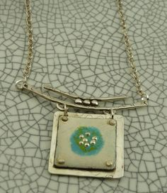 Enamel and Silver Necklace | Handmade Jewelry Store – Made For Giving