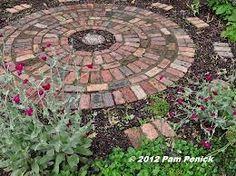 Brick pavers in a circle