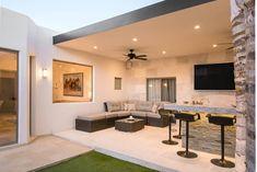Luxury Home Exterior - Sage Green Exterior - - - Terrazas Exterior Casas Small House Design, Modern House Design, Modern Houses, Home Deco, Rooftop Terrace Design, Luxury Homes Exterior, Outdoor Living Rooms, Backyard Patio Designs, Outdoor Kitchen Design