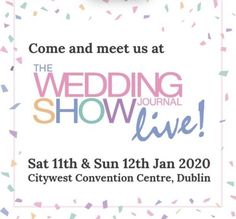 We will be at the Wedding Journal Show this weekend. Wedding Car Hire, Wedding Show, Our Wedding, Destination Wedding, Titanic Exhibition, Competition Time, Win Tickets, Very Excited, Belfast