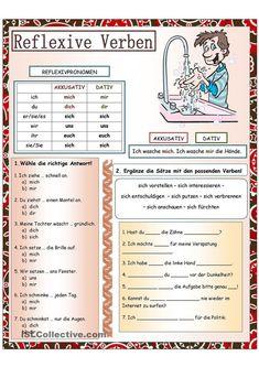 Reflexive Verben - #learning #Reflexive #Verben Study German, German English, German Grammar, German Words, Reflexive Verben, German Resources, Deutsch Language, Germany Language, German Language Learning