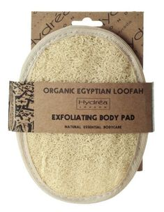 Organic Egyptian Loofah Exfoliating Body Pad  Luxury Body Exfoliator by Hydrea London * More info could be found at the image url.