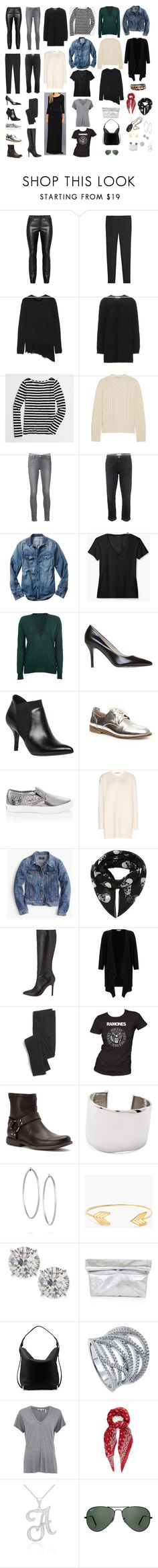 My Current Closet - Capsule Wardrobe by woxy on Polyvore featuring Valentino, Windsmoor, J.Crew, Theory, Frame, Proenza Schouler, Helmut Lang, Yves Saint Laurent, White House Black Market and Current/Elliott