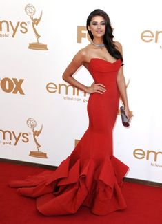 Nina Dobrev wearing Donna Karen (Red Dress from the Resort 2012 Collection)