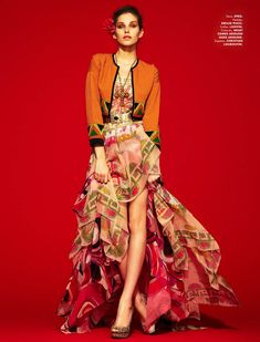 Kelsey Van Mook channels matador style for the April cover shoot of Elle Mexico, lensed by Jason Kim.