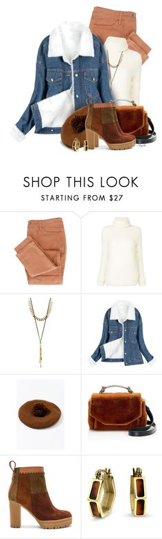 """""""Howlin'"""" by anjelakewell ❤ liked on Polyvore featuring Yves Saint Laurent, Lucky Brand, Trilogy, Maje, See by Chloé and Bling Jewelry"""