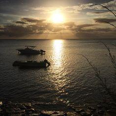 Breathtaking sunset at Le Canonnier #Mauritius