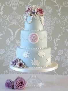 Three tier vintage cake