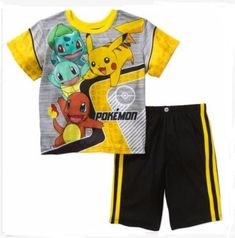 6c3e6d8a42 POKEMON Pajamas Boy s 8 NeW Shirt Shorts Pjs Set NWT PIKACHU Squirtle  Charmander