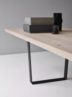 The LOWLIGHT TABLE was designed by Jacob Plejdrup in developed on the plank table concept and characterized by an open and slightly sloping base. Dining Table Design, Dining Room Table, Table And Chairs, Inexpensive Furniture, Cheap Furniture, Furniture Design, Furniture Market, Kitchen Furniture, Scandinavian Furniture