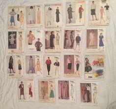 Designer Lot 19 Vintage Vogue Misses Sewing Patterns Size 14 American Paris Bags #Vogue