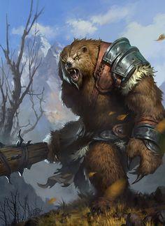 Bear, Dan Cha on ArtStation at https://www.artstation.com/artwork/V8595