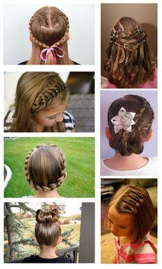 coiffure enfant tresse fleur cheveux #coiffure #enfant #tresse #noeud