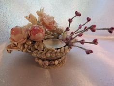 Candle Cradle by Ann Marie's Seashell Art and Creations