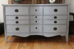 Vintage Dresser w/ Mirror and Glass Top  by InteriorsWithAStory, $395.00