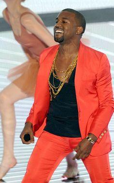 Kanye's face over gold