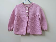 Pink baby cardigan, size 6 to 12 months, wool blend girl's sweater - soft and warm, handmade pink top for baby girl to 1 year, nice gift! French Baby, Baby Girl Sweaters, Knitted Baby Cardigan, Pink Tops, 12 Months, Baby Knitting, Wool Blend, Knitwear, Ready To Wear