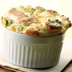 Broccoli and Goat Cheese Souffle sounds delicious.  Another meal for when Chuck is working.