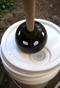 Make a portable washing machine with a plunger and a bucket. | 41 Camping Hacks That Are Borderline Genius